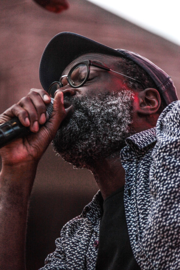 Tunde Adebimpe On The Mic