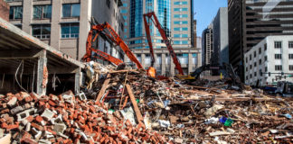 Downtown Demolition In Seattle