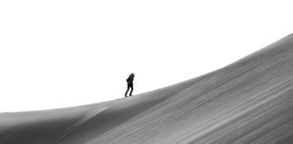 Hiker at Great Sand Dunes National Park
