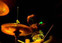 Drumming In A Roswell T-Shirt
