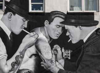 Tattoo Parlor Mural